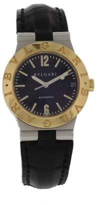 Bulgari Diagono LC29S 18K Yellow Gold/Stainless Steel & Leather Automatic 29mm Womens Watch