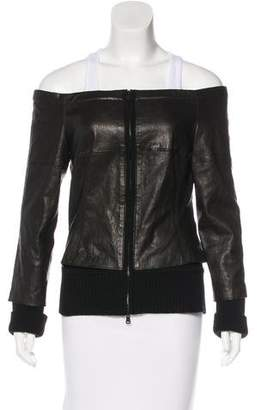 Kaufman Franco Kaufmanfranco Leather Wool-Trimmed Jacket