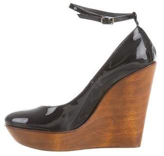 Chloé Patent Leather Wedge Pumps