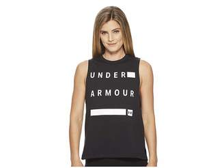 Under Armour Linear Wordmark Muscle Tank Top Women's Sleeveless