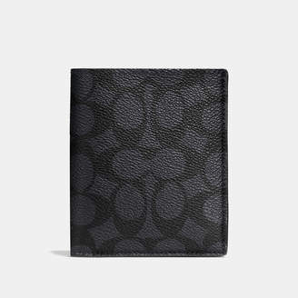 COACH Coach Slim Coin Wallet In Signature Coated Canvas $165 thestylecure.com