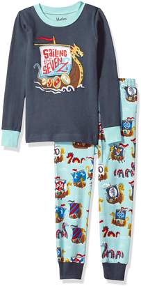 Hatley Little Boys' Organic Cotton Long Sleeve Applique Pajama Set