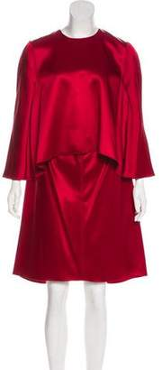 Maison Rabih Kayrouz Satin Cape Dress