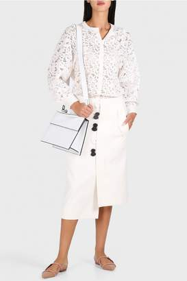 Tibi Mora Suiting Asymmetric Flap Skirt