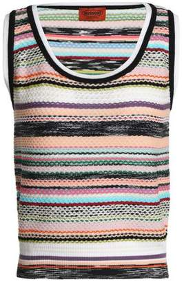 Missoni Crochet-Knit Wool-Blend Top