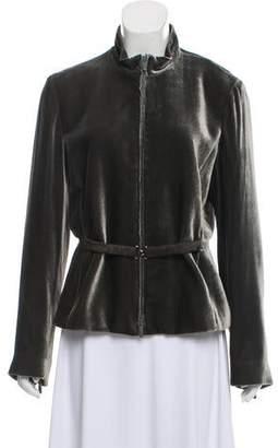 Armani Collezioni Velvet Belted Evening Jacket