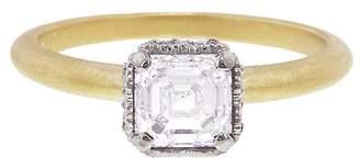 Megan Thorne Scalloped Bezel Asscher Cut Diamond Prima Ring