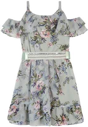 Amy Byer Iz Girls 7-16 & Plus Size IZ Cold-SHoulder Ruffle Dress