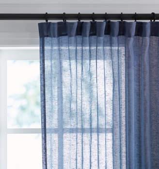 Rejuvenation Thunder Sheer Linen Curtain Panel