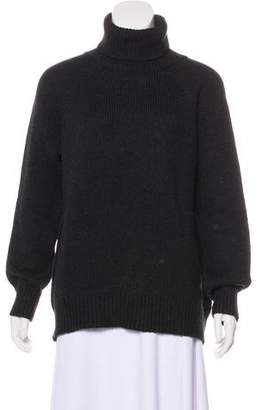 Velvet Turtleneck Knit Sweater