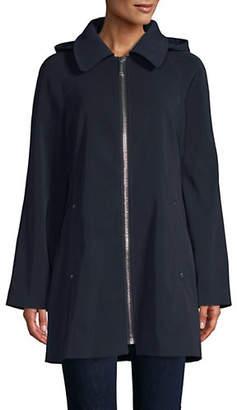 London Fog 32' Chunky Zip Hooded Jacket