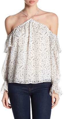 1 STATE 1.State Ruffle Cold Shoulder Top