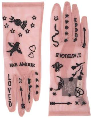 Gucci Par Amour Sheer Tulle Gloves