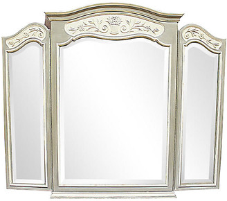 One Kings Lane Vintage Large Triptych Mirror - House of Charm Antiques