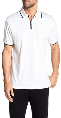 Karl Lagerfeld Zip Up Short Sleeve Polo