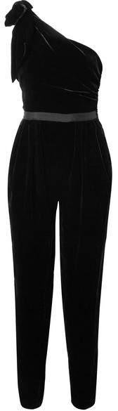 Ulla Johnson - Tess One-shoulder Velvet Jumpsuit - Black