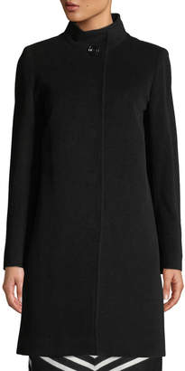 Cinzia Rocca Wool Coat with Stand Collar