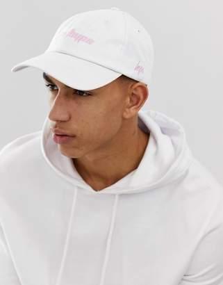 Hype Logo Baseball Cap In White