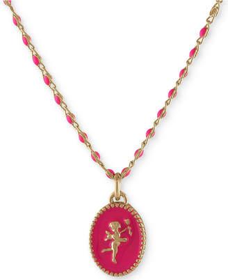 "Rachel Roy Gold-Tone Cupid Beaded Pendant Necklace, 16"" + 2"" extender"