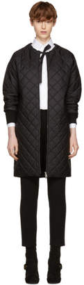 Prada Black Down Collarless Coat