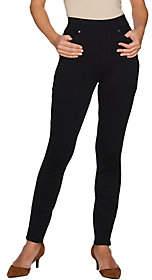 Martha Stewart Petite Ponte Knit Pull-OnAnkle Pants