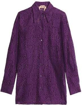 N°21 Cotton-Blend Lace Shirt