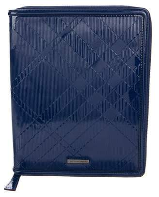 Burberry Patent Check iPad Case w/ Tags