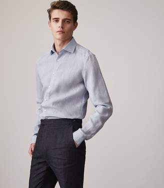 Reiss Perdu Slim Fit Linen Shirt