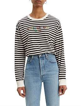 Levi's Graphic Long Sleeve Tee Stripe