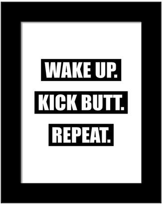 PTM Images Wake Up. Kick Butt. Repeat. Wall Art - 13 x 15