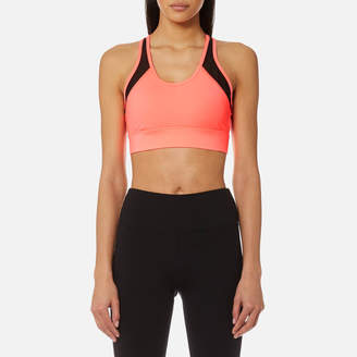 DKNY Performance Sport Women's Mesh Insert V-Neck Bra Top