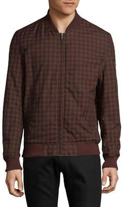 Ben Sherman Check Cotton Bomber Jacket