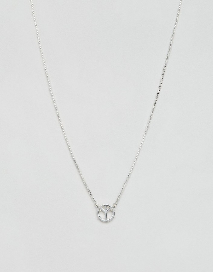 Paul Smith Paul Smith Single Peace Necklace In Silver