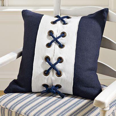 Maritime Crisscross Rope Pillow