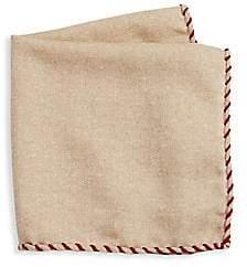 Brunello Cucinelli Men's Whipstitch Pocket Square
