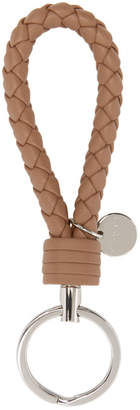 Bottega Veneta Pink Intrecciato Knot Keychain