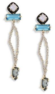 Alexis Bittar Elements Lace Agate & Crystal Dangle Drop Earrings $275 thestylecure.com