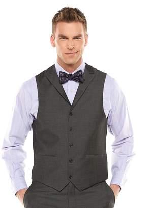 Savile Row Men's Sharkskin Gray Suit Vest