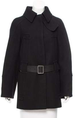 Salvatore Ferragamo Short Wool-Cashmere Coat