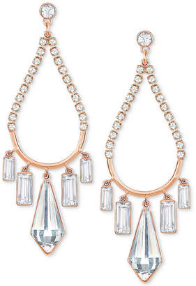 Swarovski Rose Gold-Tone Crystal Chandelier Earrings