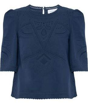 Derek Lam 10 Crosby Broderie Anglaise Cotton Blouse