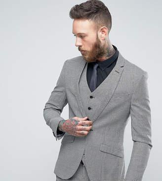Heart & Dagger Super Skinny Suit Jacket In Dogstooth Tweed