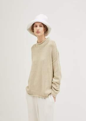 LAUREN MANOOGIAN Crochet Bell Hat Optic White