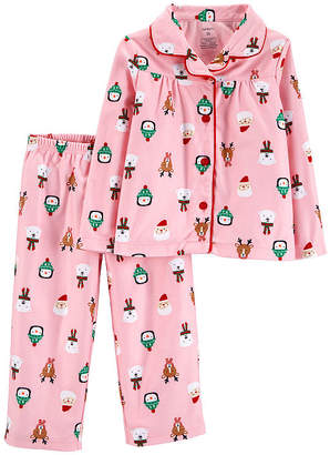 Carter's 2-Pc. Holiday Pant Pajama Set - Toddler Girls
