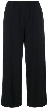 Helmut Lang wide-legged cropped trousers