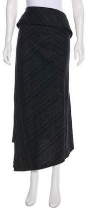 Kenzo Belt-Accented Patterned Midi Skirt