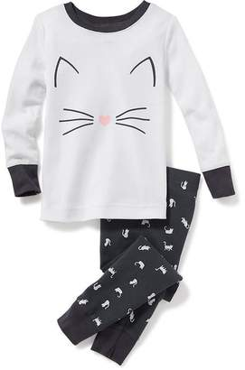2-Piece Cat-Graphic Sleep Set for Toddler & Baby $14.99 thestylecure.com