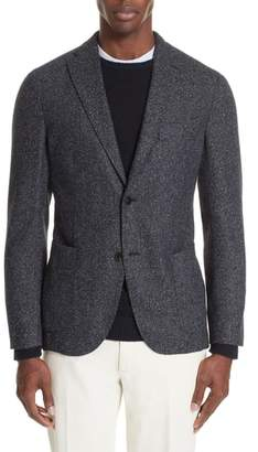 Boglioli Trim Fit Tweed Wool Blend Blazer