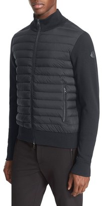 Men's Moncler Mixed Media Quilted Jacket $795 thestylecure.com