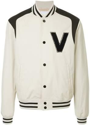 Ports V logo bomber jacket